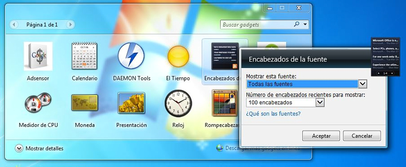 01 gadgets en Windows 7