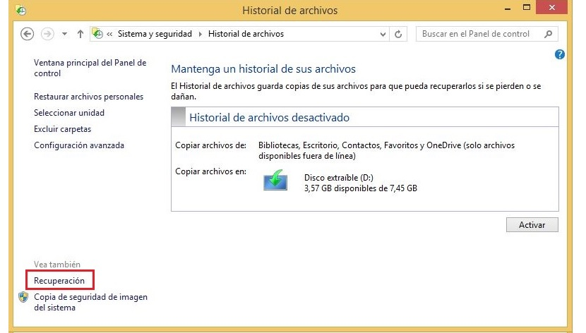 01 pendrive USB de recuperacion de Windows 8.1