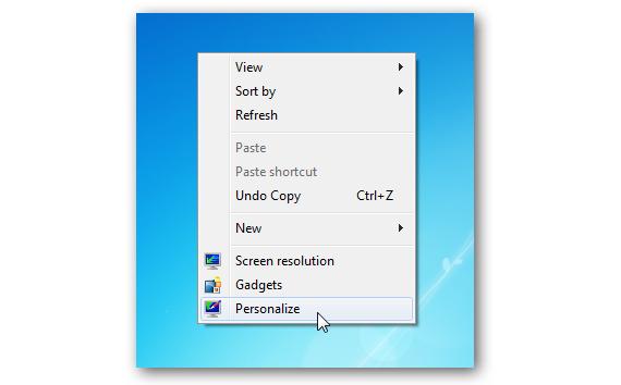 01 personalizar escritorio en Windows 7