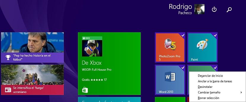 01 seleccion multiple en Windows 8.1