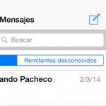 Evitar leer mensajes de Remitentes Desconocidos en iOS de Apple