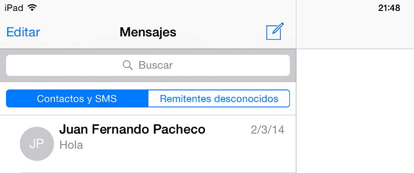 02 Remitentes desconocidos en iOS 8.3