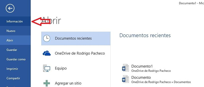 02 recuperar documentos perdidos en Word 2013