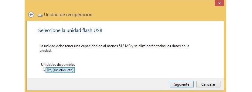 04 pendrive USB de recuperacion de Windows 8.1