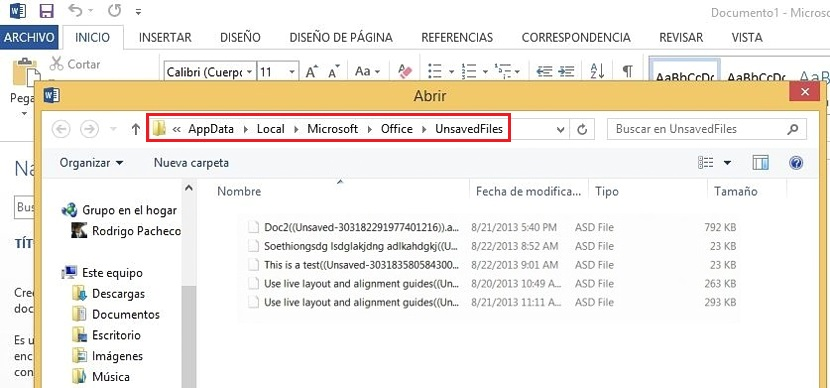 04 recuperar documentos perdidos en Word 2013