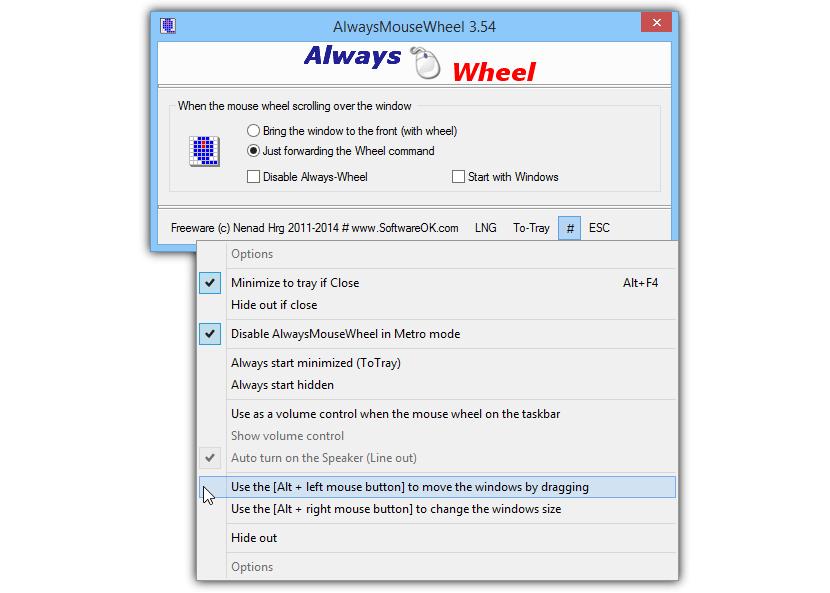 Always Mouse wheel