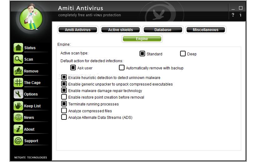 Amiti Free Antivirus 03