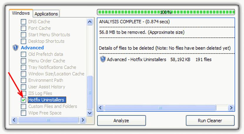 CCleaner Hotfix Uninstallers