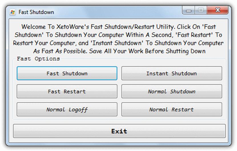 Fast Shutdown