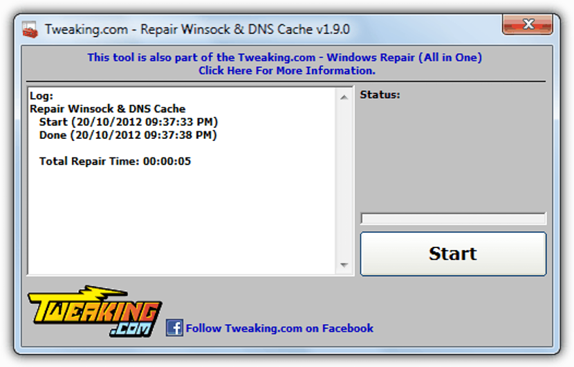 Repair Winsock and DNS Cache