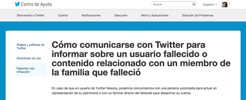 Twitter para fallecidos