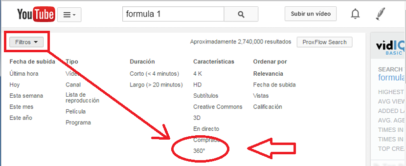 Video en 360 grados dentro de youtube 01