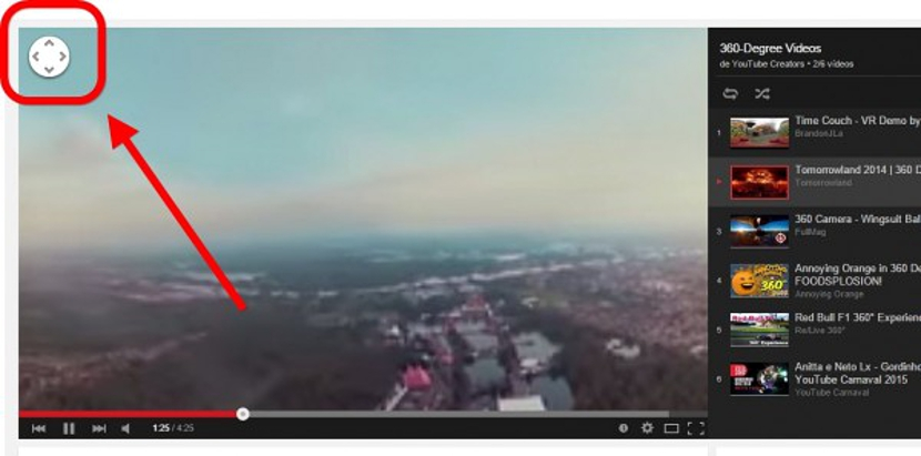 Video en 360 grados dentro de youtube 02