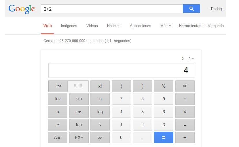 calculadora cientifica en google