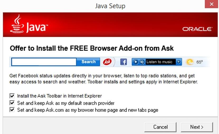 como eliminar la barra de Ask 01