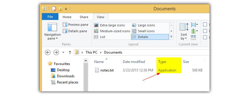 descubrir archivos falsos en Windws