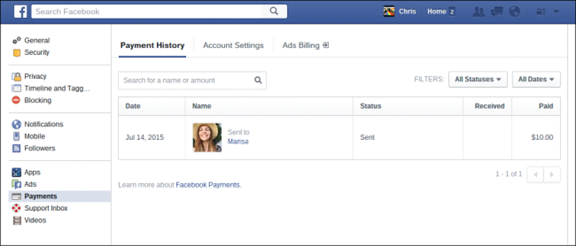 enviar dinero por Facebook Messenger 01