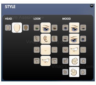 Cambia la apariencia física de tu avatar