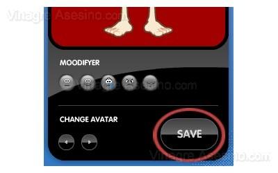 Guardar cambios en tu avatar