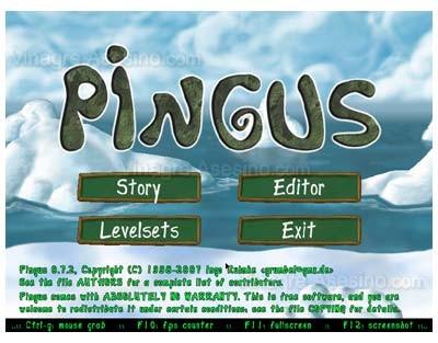Pantalla de inicio de Pingus