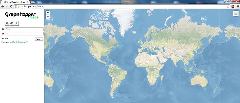 mapa digital para vacaciones