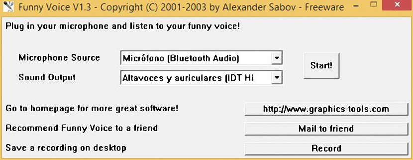 modificar la voz en Windows