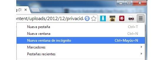 navegación privada en Internet