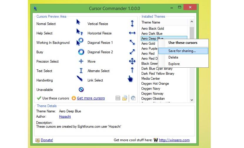 personalizar los punteros del ratón 04