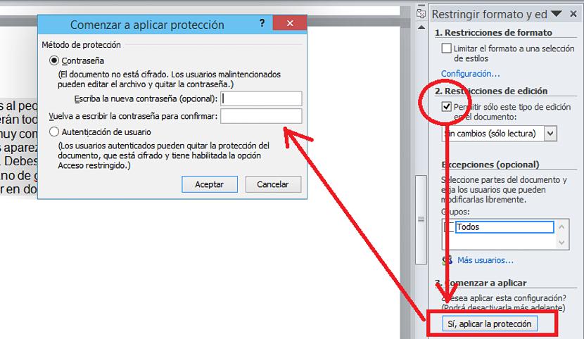 proteger un parrafo en Word de Office 02