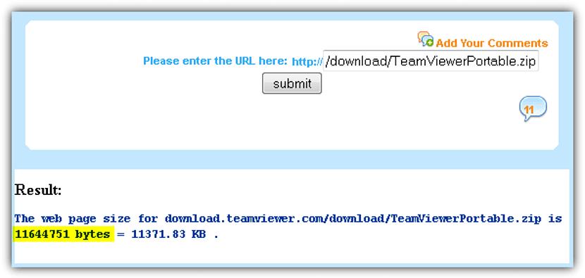web-file-size